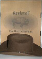 Resistol Bison Wool Spotter Mink X4 Hat 7 1/2