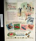 1947 Monitor Boots Boys Appliances Home Vintage Print Ad 5499 photo