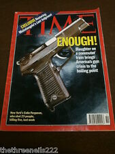 TIME MAGAZINE - AMERICA'S GUN CRISIS - DEC 20 1993