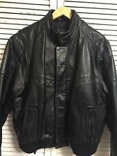 First Genuine Leather Cafe Racer Motorcycle Jacket Men's Large