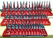 Hansen 1/4, 3/8, 1/2 SAE & METRIC Socket Organizer Holder Tray 6pc-  HSN 92000
