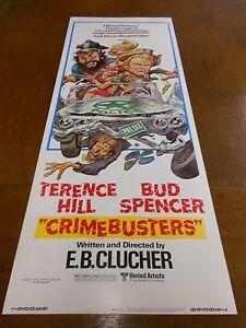 CRIMEBUSTER(1977)TERENCE HILL ORIGINAL INSERT POSTER NICE!