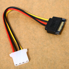 1* Male Female 4-pin Power Drive Adapter Cable to Molex IDE SATA 15-pin  HOT