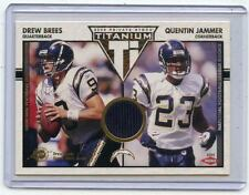 2002 TITANIUM #161 DREW BREES JERSEY CARD #208/500, w/ JAMMER RC - CHARGERS