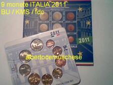 2011 coffret BU 9 pièces 5,88 EURO ITALIE ITALIA Cavour Italy Italien Италия