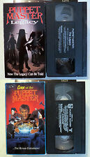 VHS Lot: Curse of the Puppet Master + The Legacy
