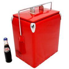 Rétro Cool Box Plain rouge Refroidisseur 17 L Vintage coolbox cadeau de mariage AAC
