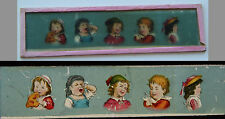 Ancienne plaque verre magic lanterne magique photo fin XIX° enfant caricatures