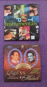 Rafi Vs Mukesh MP3 Audio & Top 10 Instrumentals Indian Music -  2 CDs Pack