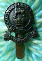 14th Kings Hussars Cap Badge KC BRASS Long Slider 26 mm ANTIQUE Original