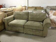 Pottery Barn Pearce Couch Sofa Sectional Pewter Everday Suede Left & Right Chair