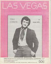 Las Vegas - Tony Christie - 1970 South African Sheet Music