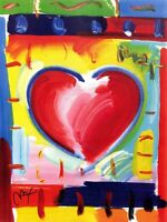 PETER MAX POSTER- ABSTRACT HEART-18 X 24- #115