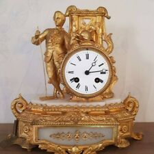 French Louis XVI gilded pendulum Mantle Clock -from 1880