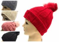 WHOLESALE JOBLOT 12 PCS WOOLEN KNITTED HAT POM POM  GIFT FUR WINTER 2100
