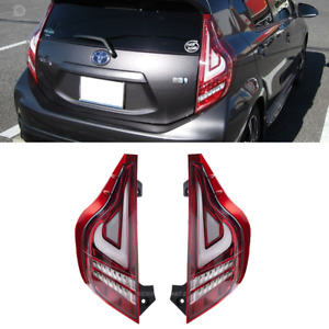 Toyota Prius C Valenti LED Tail Light Lamp Sequential Aqua NHP10 Clear Red 12-20