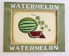 Watermelon Summer Decor Wooden Hanging Wall Plaque Kitchen Dining Seasonal Vine