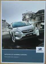 rare catalogue Subaru (yc BRZ et WRX STi) France - 2014 - 4p