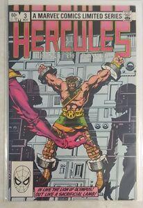 HERCULES MARVEL COMIC #3 w BAG & BOARD 1982