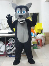 Halloween Black Wolf Mascot Costume Husky Animal Unisex Party Dog Cosplay Outfit