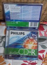 Philips Audio CD Rohling 80 Minuten 700MB Jewelcase  2 STÜCK NEU + OVP