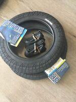 2 x Semi Slick Buggy Pram Tyres & Tubes 12 1/2 X 2 1/4  Mama & Papas Quinny