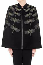 "BNWT SASS & BIDE   ""Fortune's Fool""  Hand Embellished  Dragonfly Cape - Sz 8 -"