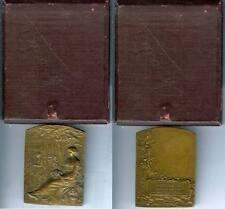 Médaille de table - ALSACE-LORRAINE chemins de fer RASUMNY scupteur d=61x45mm