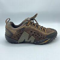 Merrell Intercept Mocha Brown Hiking Trail Shoes Leather J73779 Men's 7 M