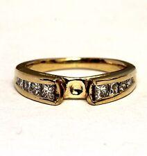 14k yellow gold .80ct  SI1 I diamond semi mount engagement ring 4.5g estate