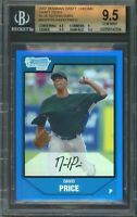 2007 bowman draft chrome dp blue refractors #bdpp55 DAVID PRICE rookie BGS 9.5