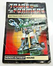 Hound G1 instrucciones transformador Autobot Scout parte sólo [hsti 143]