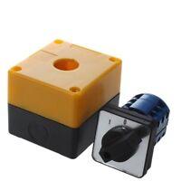Interruptor conmutador 3 posiciones rotativo LW28-20/3 500V 20A Negro + Ama X4N2