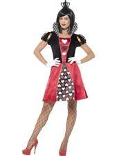CARDED QUEEN OF HEARTS FANCY DRESS COSTUME FEMALE WOMAN FAIRY TALE