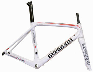 STRADALLI AR7 CARBON FIBER AERO ROAD BIKE FRAME BICYCLE FRAMESET BB86 WHITE