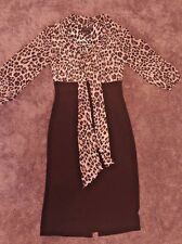WHITE HOUSE BLACK MARKET Dress Leopard EUC Pencil Skirt Career Small 0-4 XS Sexy