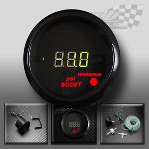 "car boost gauge digital led psi 2"" 52mm green bulb display dash panel pod"