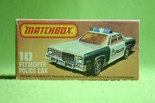 Modello di auto-MATCHBOX-SUPERFAST-N. 10 Plymouth METRO POLICE CAR-OVP