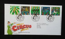 2002      FIRST DAY COVER.     EUROPA, CIRCUS.      SPECIAL POSTMARKS.