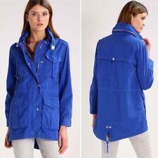 Women's XXS 2xs J Crew Fatigue Military Hooded Jacket in Blue G0874