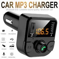 Wireless Bluetooth Car Kit FM Transmitter Dual USB Charger MP3 Player Handsfree