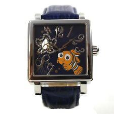 Disney Watch Men's Wristwatch Automatic Leather Band Nemo Roman Strass Cartoon