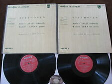 2 LP Beethoven Casals Serkin Sonatas for Cello and Piano No. 1-5 France 60s | EX