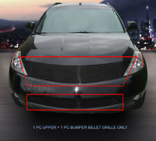Fits 2003-2008 Nissan Murano Black Billet Grille Grill Combo