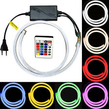 LED Neon Chain Stripes Stripes 220V RGB Flexible Diffuse Dimmable White Blue Red