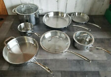 Calphalon 10 Piece Tri-Ply Cookware Set, Stainless Steel - FREE SHIPPING