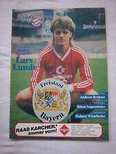 Orig.PRG   1.Bundesliga   1986/87   FC BAYERN MÜNCHEN - BAYER 04 LEVERKUSEN  !!