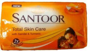 Santoor Soap 150g Bar Santoor Sandal & Turmeric Soap Free Delivery U.K