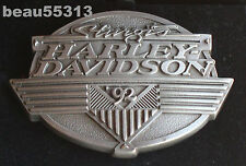 """NEW"" HARLEY DAVIDSON 1992 STURGIS LIMITED # 936 of 1500 FINE PEWTER BELT BUCKLE"