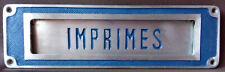 Grande façade entrée boite lettres PTT imprimés journaux Poste années 1960 RARE